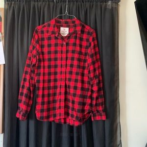 So brand red flannel long sleeve button up
